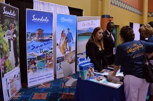 TPI Tradeshow, Sandals Booth