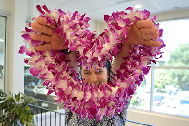 Leis from the Hawaii Tourist Bureau