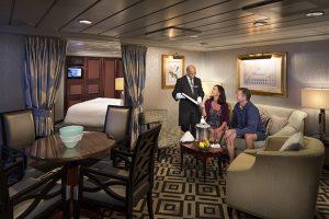 Club World Owner's Suite Cat. CW - Room #8088 Deck 8 Aft Portside Azamara Journey - Azamara Club Cruises