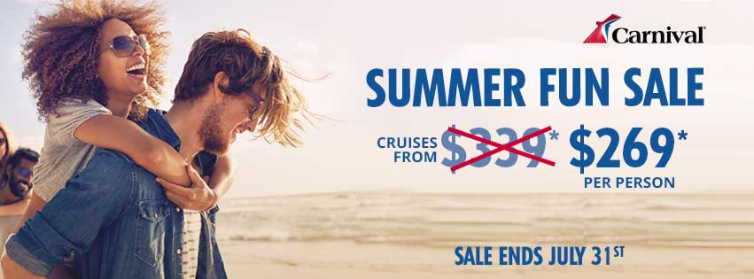 Carnival Promo - Cruises from $269