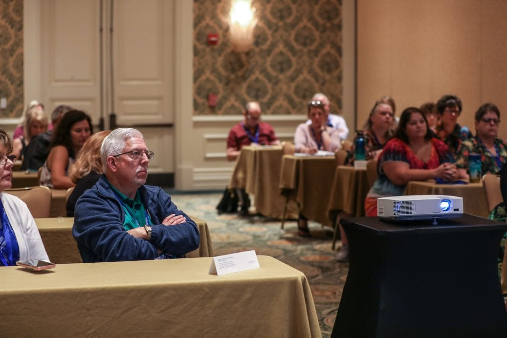 Travel advisors in a breakout session