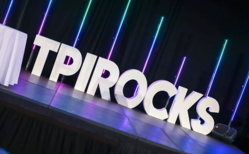 TPI Rocks Letters On Stage